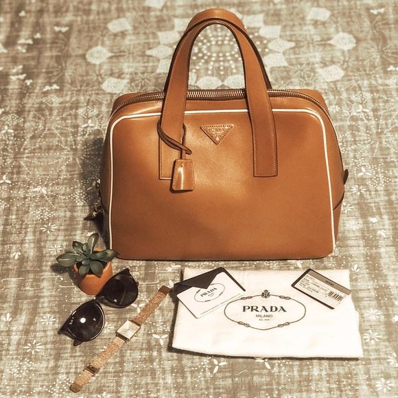 09f9dff58506ee Prada Bags | Authentic Bauletto Bag Bl0848 Caramel | Poshmark